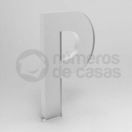 "Letra ""P"" de Acrílico 20cm"