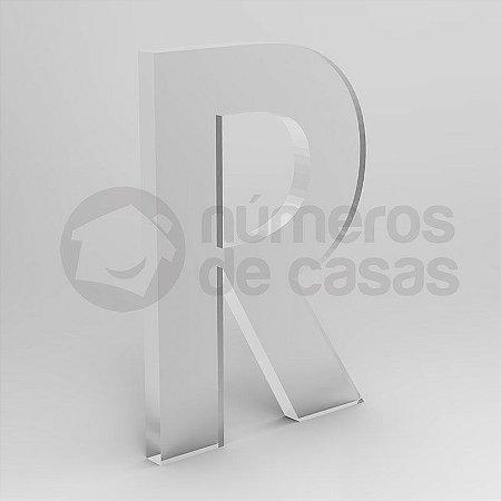 """Letra """"R"""" de Acrílico 20cm"""