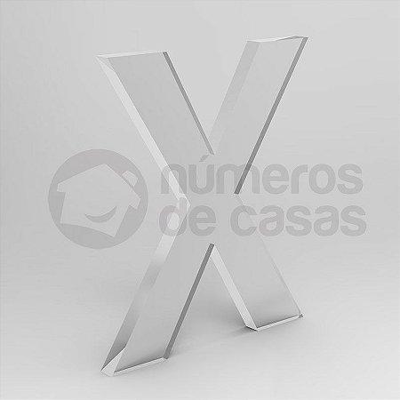 "Letra ""X"" de Acrílico 20cm"
