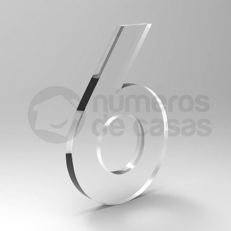 """Número """"6"""" de Acrílico 20cm"""