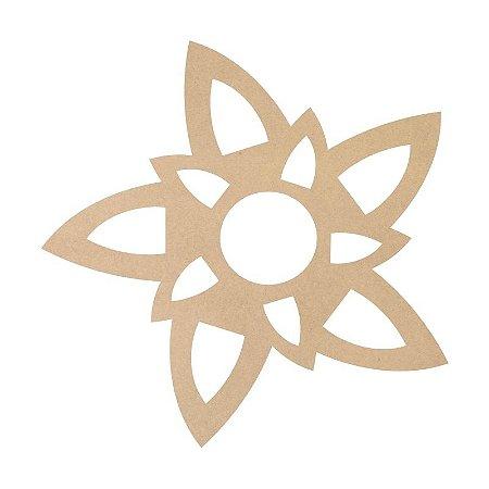 Mandala em Mdf Crú 50cm ACC001