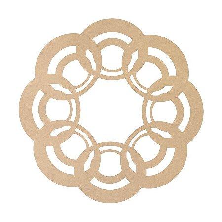 Mandala em Mdf Crú 50cm ACC002