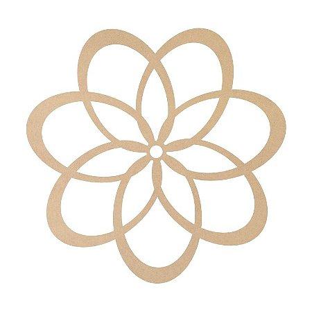 Mandala em Mdf Crú 50cm ACC003