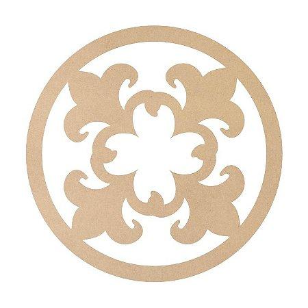 Mandala em Mdf Crú 50cm ACC004