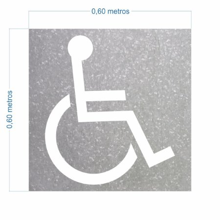 Molde Cadeirante Uso Profissional Pintura De Vaga 60x60cm