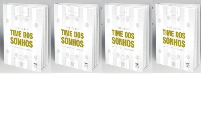 4 exemplares de Time dos Sonhos + frete grátis + dedicatórias exclusivas por apenas 85 reais