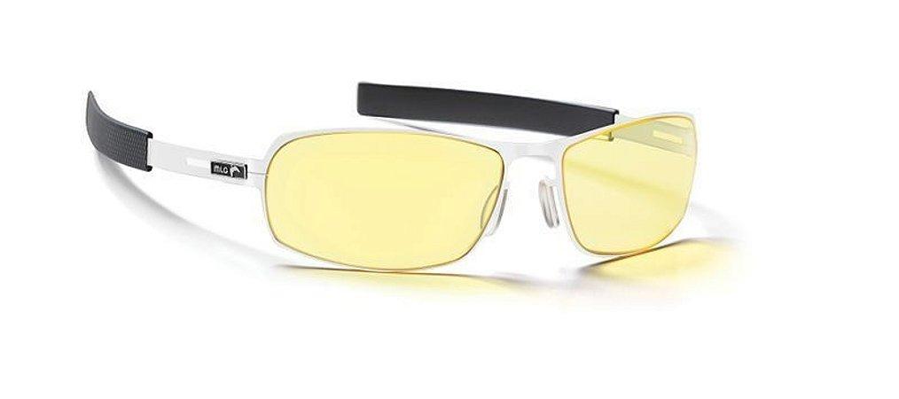 Óculos Gunnar MLG Phantom Snow Onyx com Grau - Lente Premium