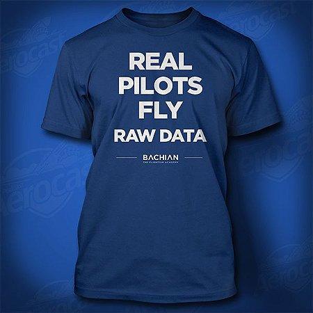 Camiseta Real Pilots Fly Raw Data - Azul