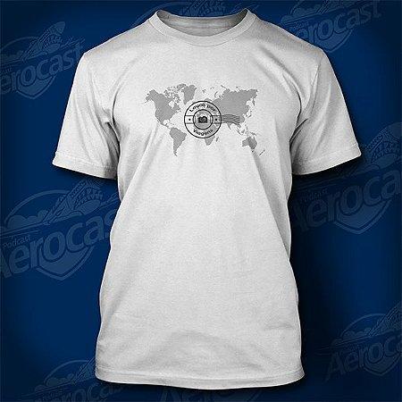Camiseta Louco por Viagens Branca - Mundo