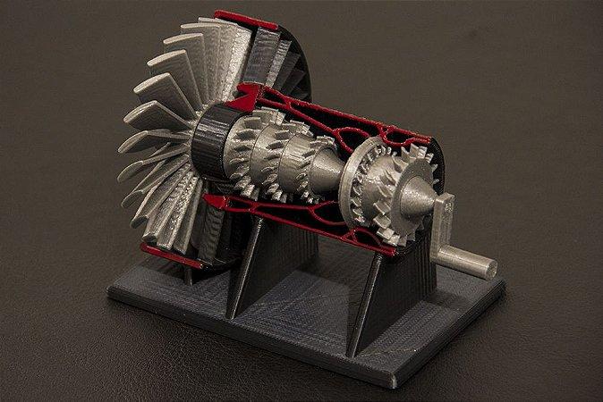 Miniatura do motor a jato - Colorida Especial