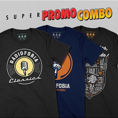 Super Combo Rádiofobia - 3 camisetas