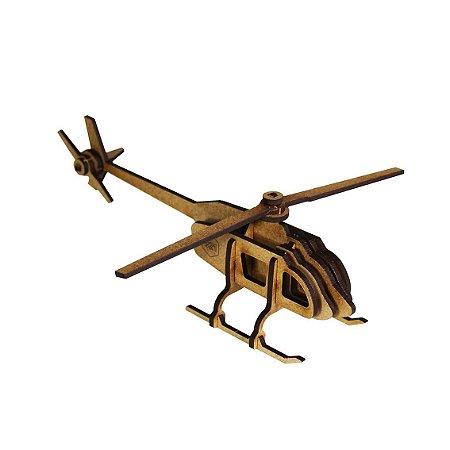 Helicóptero - Miniatura para montar