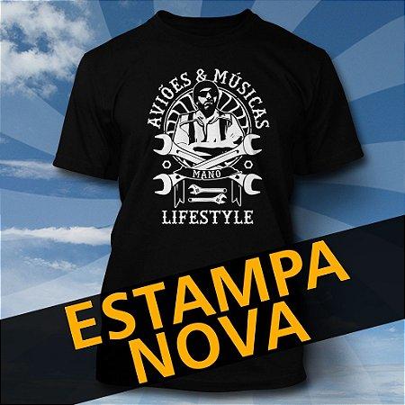 Camiseta Aviões & Músicas - Mano Lifestyle