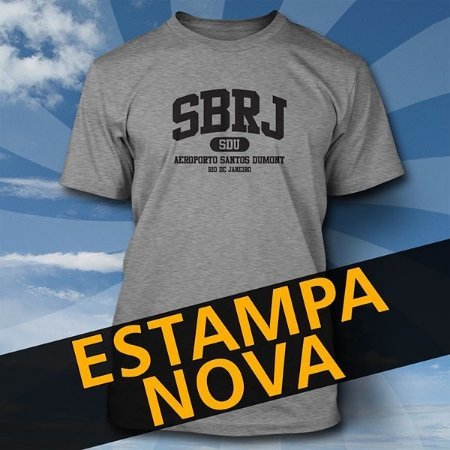 Camiseta SBRJ SDU - Série Aeroportos
