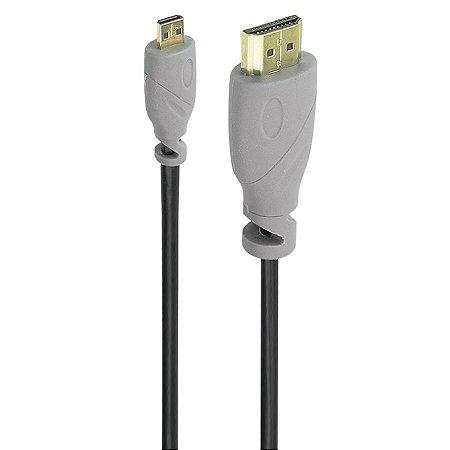 CABO MICRO HDMI MACHO X HDMI MACHO 2.0 4K HDR 19P 5 METROS