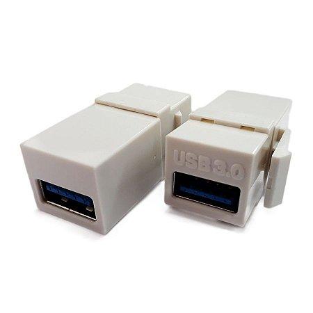 KEYSTONE EMENDA USB 3.0 P/ESP BR