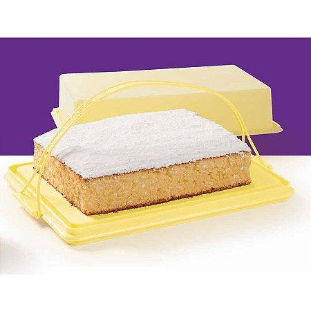 Tupperware Big Cake Retangular Plus Amarelo