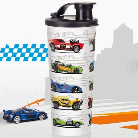 Tupperware Copo com Bico Hot Wheels 470ml