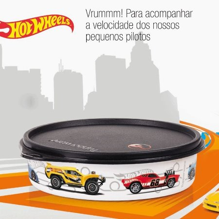 Tupperware Pratinho Hot Wheels 500ml