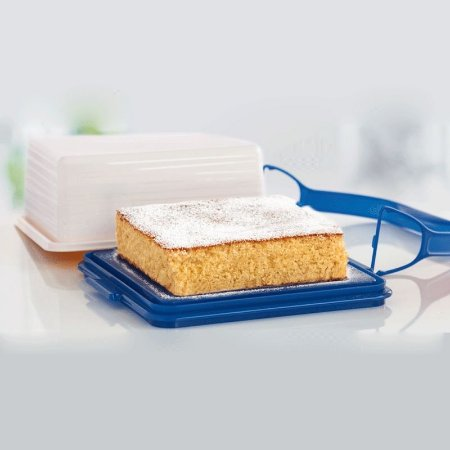 Tupperware Big Cake Quadrado Plus Azul