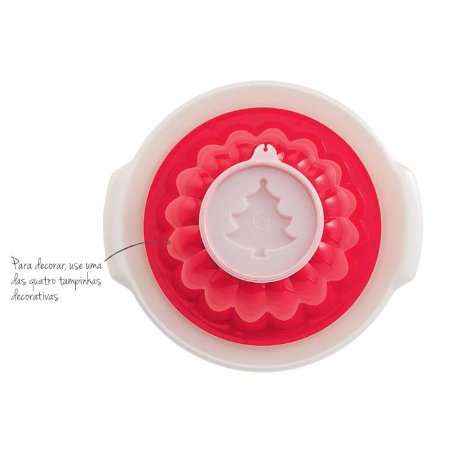 Tupperware Mágica 1 litro Vermelha