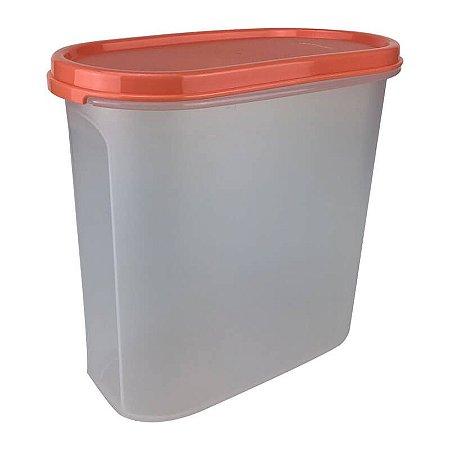 Tupperware Modular Oval 3 Laranja 1,7 litro