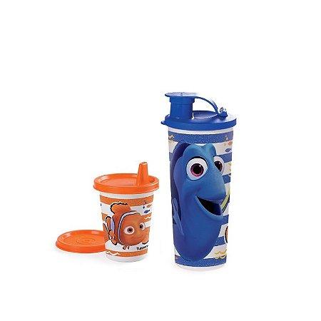 Tupperware Copinho com bico Nemo + Copo com bico Dory e Nemo kit 2 Peças