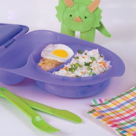 Tupperware Pratinho Infantil com Talher 500ml Roxo