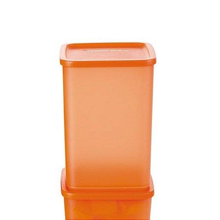 Tupperware Refri Line Quadrado 2,2 litros Laranja