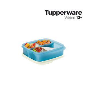 Tupperware Basic line Com Divisórias 550ml Azul Serenity