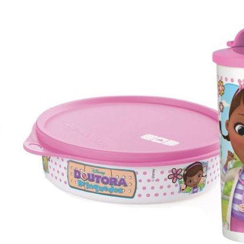 Tupperware Pratinho Doutora Brinquedo 500ml Rosa