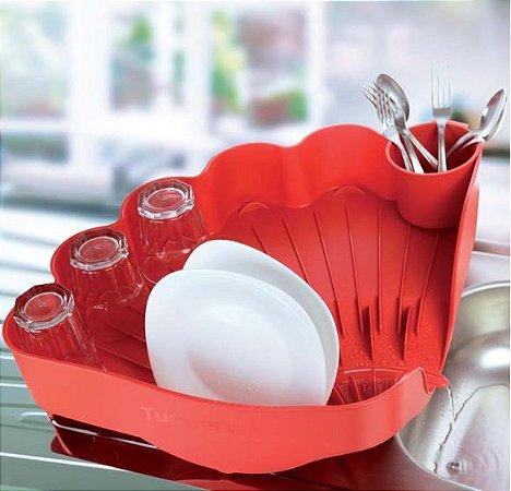 Tupperware Escorredor de Louças Vermelho Importado