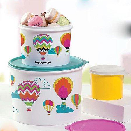 Tupperware Caixas Balões Branco kit 2 Peças