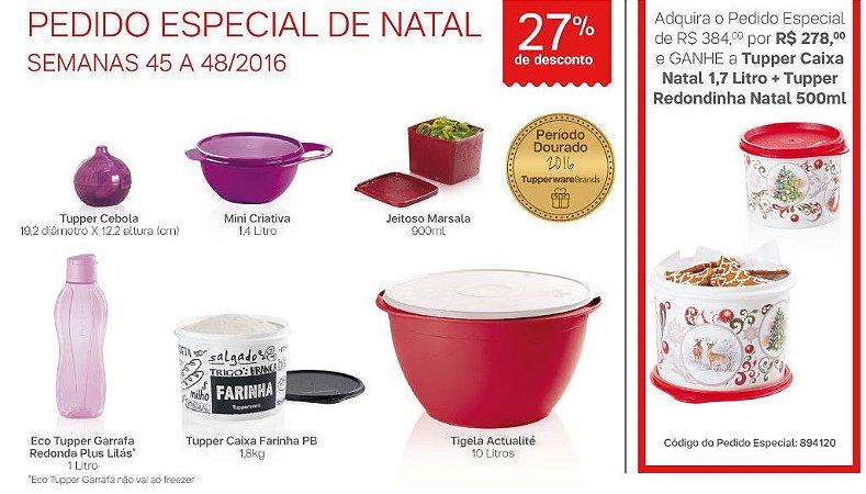 Tupperware Pedido Especial de Natal 6 Produtos + 2 Grátis
