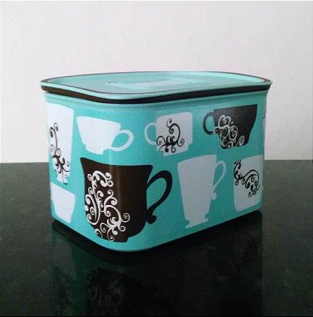Tupperware BaseLine Café Importado 1,3 litro Turquesa