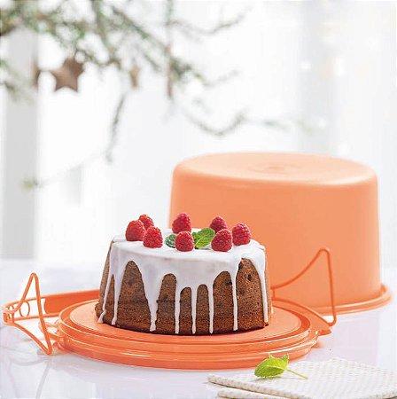 Tupperware Big Cake Redondo Laranja Porta Bolo