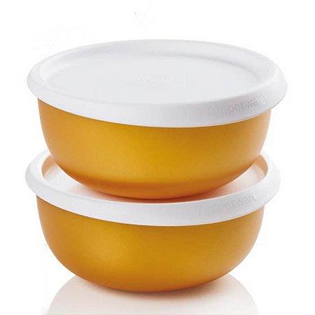 Tupperware Tigela Toque Mágico Gold kit 2 Peças 550ml