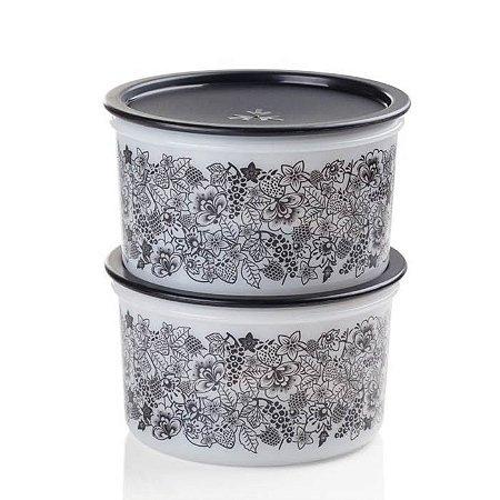Tupperware Pote Master kit 2 Peças Florido