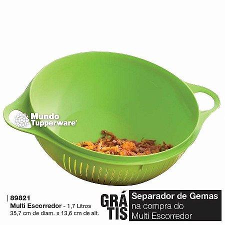 Tupperware Multi Escorredor Alimentos 1,7 litros Verde