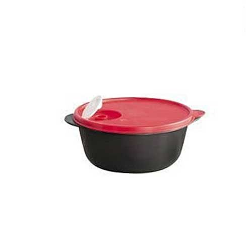 Tupperware Cristalwave 1,5 litro Preto e Vermelho Geração 3