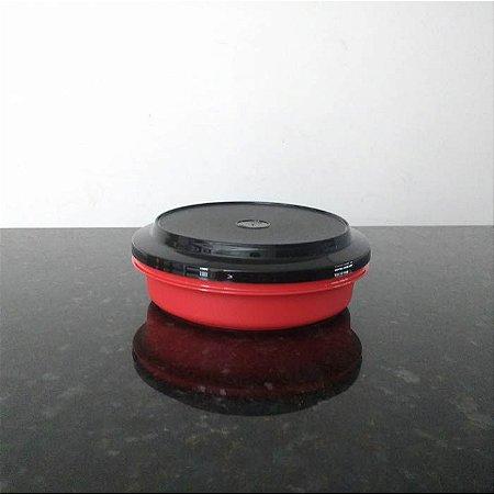 Tupperware Travessa Redonda Actualité 500 ml Vermelho e Preto