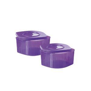 Tupperware Fresh'n Cool Quadrado 470 ml cada kit 2 peças Roxo