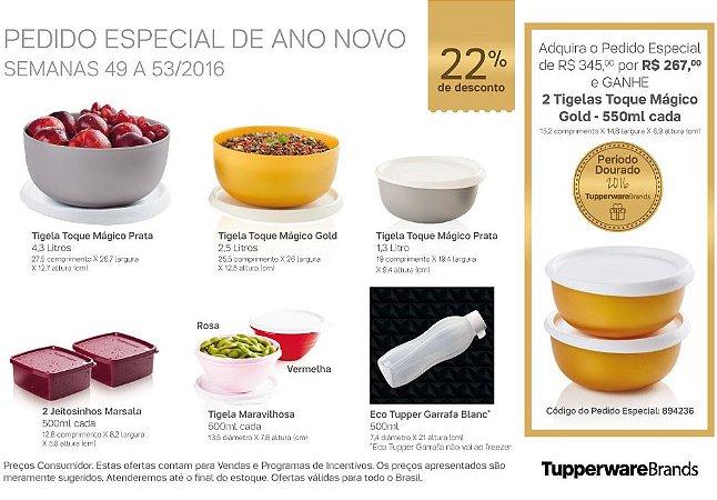 Tupperware Pedido Especial de Ano Novo kit 7 peças + 2 grátis