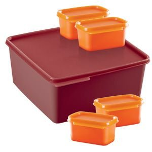Tupperware Basic Line 5 litros + 4 unidades de 160ml cada kit 5 peças