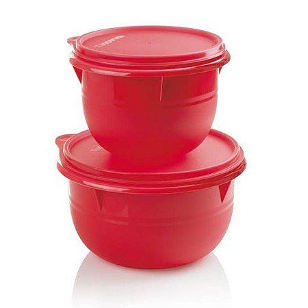 Tupperware Tigela Batedeira Vermelha kit 2 Peças