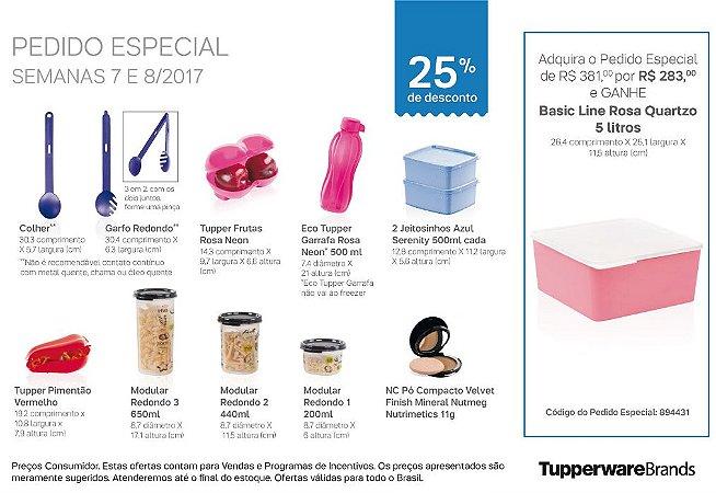 Tupperware Pedido Especial 08/2017 kit 11 peças + 1 grátis