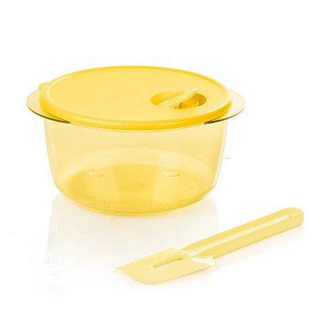 Tupperware Cristalware 2 litros + Pá Batedeira Amarela Kit 2 Peças