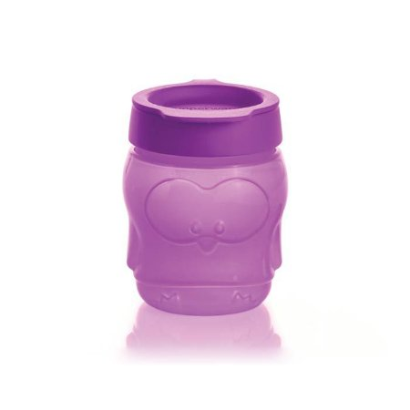 Tupperware Porta Snack Kids com Tampa 300ml Pinguim Roxo