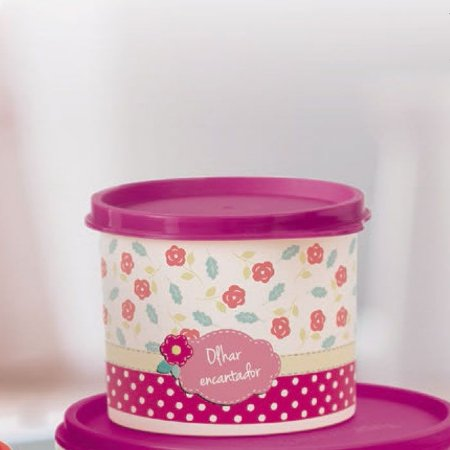 Tupperware Redondinha Scrapbook 500ml