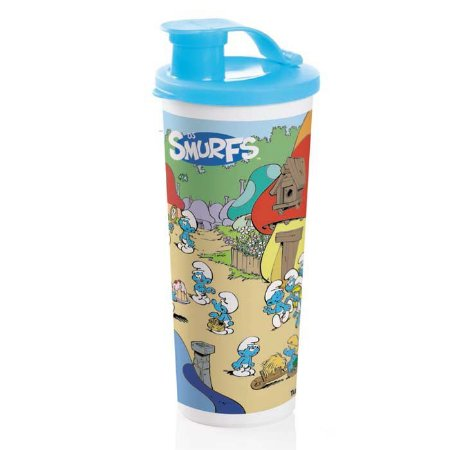 Tupperware Copo Com Bico Smurf 470ml